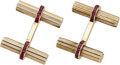 Estate Jewelry:Cufflinks, Ruby, Gold Cuff Links, Van Cleef & Arpels. ...