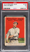 Baseball Cards:Singles (Pre-1930), 1914 Cracker Jack Jake Daubert #143 PSA VG 3....
