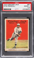 Baseball Cards:Singles (Pre-1930), 1914 Cracker Jack Otis Crandall #67 PSA Good+ 2.5....