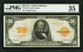 Large Size:Gold Certificates, Fr. 1199 $50 1913 Gold Certificate PMG Choice Very Fine 35.. ...