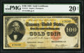 Large Size:Gold Certificates, Fr. 1211 $100 1882 Gold Certificate PMG Very Fine 20 Net.. ...