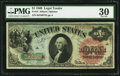 Large Size:Legal Tender Notes, Fr. 18 $1 1869 Legal Tender PMG Very Fine 30.. ...