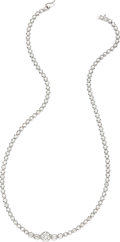 Estate Jewelry:Necklaces, Diamond, Platinum Necklace . ...