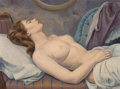 Fine Art - Painting, American, Leon Kroll (American, 1884-1974). Odalisque. Oil on canvas.24 x 32 inches (61.0 x 81.3 cm). Signed lower right: Leon ...(Total: 2 Items)