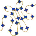 Estate Jewelry:Necklaces, Lapis Lazuli, Gold Necklace, Van Cleef & Arpels. ...