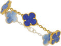 Estate Jewelry:Bracelets, Lapis Lazuli, Gold Bracelet, Van Cleef and Arpels. ...