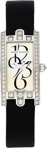 Estate Jewelry:Watches, Harry Winston Lady's Diamond, White Gold Avenue C Watch. ...