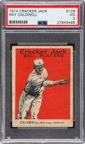 Baseball Cards:Singles (Pre-1930), 1914 Cracker Jack Ray Caldwell #129 PSA VG 3 - Very Low Total Pop!...