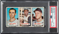 Baseball Cards:Singles (1960-1969), 1967 Bazooka Chance-Twins/Clemente/Cloninger (Uncut panel) PSAEX-MT 6. ...