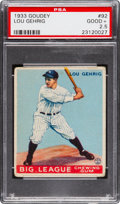 Baseball Cards:Singles (1930-1939), 1933 Goudey Lou Gehrig #92 PSA Good+ 2.5. Admit it...