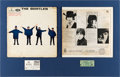 Music Memorabilia:Autographs and Signed Items, Beatles - John, George & Ringo Signed Help! Mono LPCover Display (UK - Parlophone PMC 1255, 1965)....