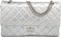 "Luxury Accessories:Bags, Chanel Metallic Silver Distressed Calfskin Leather Reissue 227Double Flap Bag with Silver Hardware. Condition: 3. 12""Wid..."