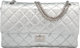 Chanel Metallic Silver Distressed Calfskin Leather Reissue 227 Double Flap Bag with Silver Hardware Condition: 3 12&quot...