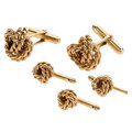 Estate Jewelry:Cufflinks, Gold Dress Set. ...