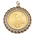 Estate Jewelry:Pendants and Lockets, US $20 Gold Coin, Gold Pendant. ...