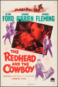 """Movie Posters:Western, The Redhead and the Cowboy (Paramount, 1951). One Sheet (27"""" X 41""""). Western.. ..."""