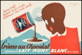"""Movie Posters:Miscellaneous, Créme au Chocolat (Lait Mont Blanc, c.1950s). Full-Bleed French Advertising Poster (11"""" X 16.5""""). Miscellaneous.. ..."""