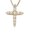 Estate Jewelry:Pendants and Lockets, Diamond, Gold Pendant-Necklace. ... (Total: 0 Items)
