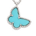 Estate Jewelry:Necklaces, Turquoise, White Gold Necklace, Van Cleef & Arpels. ...