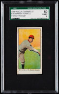 Baseball Cards:Singles (Pre-1930), 1909 E92 Nadja Caramels Harry Howell (Follow Through) SGC 50 VG/EX4....