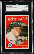 Baseball Cards:Singles (1950-1959), 1959 Topps Mickey Mantle #10 SGC 35 Good+ 2.5....