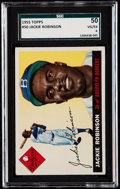 Baseball Cards:Singles (1950-1959), 1955 Topps Jackie Robinson #50 SGC 50 VG/EX 4....