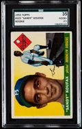Baseball Cards:Singles (1950-1959), 1955 Topps Sandy Koufax #123 SGC 35 Good+ 2.5.. ...