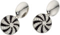 Estate Jewelry:Cufflinks, Diamond, Black Onyx, Platinum, White Gold Cuff Links . ...