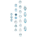 Estate Jewelry:Unmounted Gemstones, Unmounted Aquamarine. ... (Total: 22 Items)