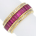 Estate Jewelry:Rings, Ruby, Diamond, Gold Eternity Band, Sonia B.. ...