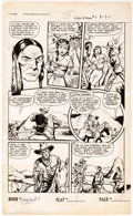 Original Comic Art:Panel Pages, Iger Studio Cowgirl Romances #4 Story Page 2 Original Art(Fiction House, 1951)....