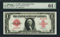 Large Size:Legal Tender Notes, Fr. 40* $1 1923 Legal Tender PMG Choice Uncirculated 64 EP...