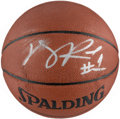 Autographs:Others, Derrick Rose Signed Basketball.. ...