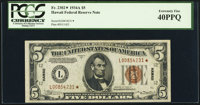 Fr. 2302* $5 1934A Hawaii Federal Reserve Note. PCGS Extremely Fine 40PPQ