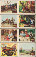 "Movie Posters:Western, Gunfighters (Columbia, 1947). Lobby Card Set of 8 (11"" X 14""). Western.. ... (Total: 8 Items)"