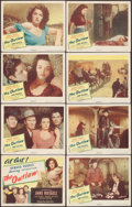 "Movie Posters:Western, The Outlaw (United Artists, 1946). Lobby Card Set of 8 (11"" X 14""). Western.. ... (Total: 8 Items)"