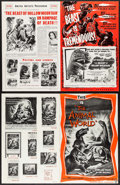 """Movie Posters:Science Fiction, The Beast of Hollow Mountain & Other Lot (United Artists,1956). Uncut Pressbooks (2) (Multiple Pages,11"""" X 17""""). ScienceFi... (Total: 2 Items)"""