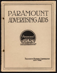 """Paramount Exhibitor Advertising Book (Paramount, c.1910s). Book (Multiple Pages, 9"""" X 12""""). Miscellaneous"""