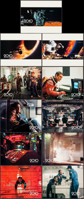 "2010 (MGM/UA, 1984). Very Fine+. Deluxe Lobby Card Set of 11 (11"" X 14""). Science Fiction. ... (Total: 11 Item..."