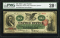 Large Size:Legal Tender Notes, Fr. 95b $10 1863 Legal Tender PMG Very Fine 20 Net.