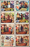 "Movie Posters:Western, Brothers in the Saddle & Other Lot (RKO, 1948). Fine+. Lobby Cards (16) (11"" X 14""). Western.. ... (Total: 16 Items)"
