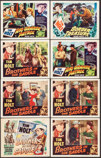 """Brothers in the Saddle & Other Lot (RKO, 1948). Fine+. Lobby Cards (16) (11"""" X 14""""). Western. ... (Tot..."""