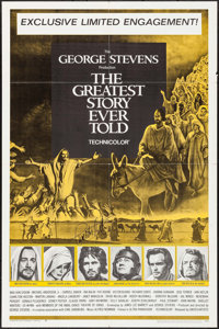 "The Greatest Story Ever Told (United Artists, 1965). Autographed One Sheet (27"" X 41""). Drama"