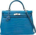 Luxury Accessories:Bags, Hermes 35cm Mykonos Alligator Retourne Kelly Bag with Pall...