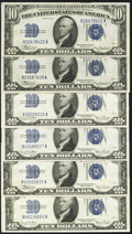 Small Size:Silver Certificates, $10 Silvers Six Examples.. ... (Total: 6 notes)