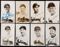 Autographs:Photos, 1951-53 Cleveland Indians Signed Postcard Lot of 8.. ...