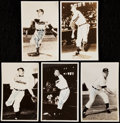 Autographs:Post Cards, Lot of 5 Bob Feller and Bob Lemon Signed Postcards, Images from 1949 & 1951 Bowman.. ...