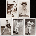 Baseball Collectibles:Others, Late 1940's - 1950's (Van Patrick) Cleveland Indians Vintage Postcard Lot of 23.. ...