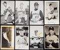 Autographs:Post Cards, 1960's Lot of 8 Baseball Greats Postcards, 6 Signed.. ...