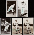 Autographs:Post Cards, Lot of 5 Early Wynn Signed Vintage Postcards.. ...